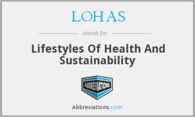 LOHAS - Lifestyles Of Health And Sustainability