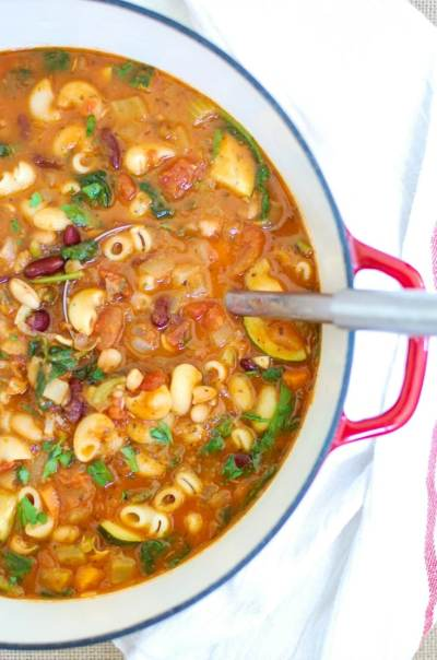 Homemade Minestrone Soup Recipe - A Cedar Spoon