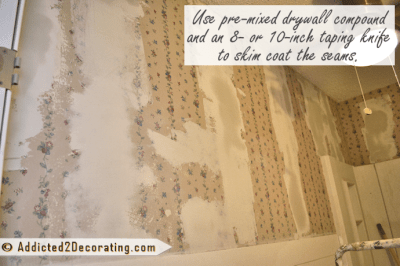 Bathroom Makeover Day 9 – How To Remove Wallpaper (Without Actually Removing Wallpaper)