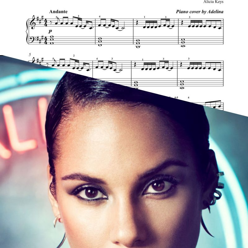 """Girl on fire"" – Alicia Keys – Piano Sheet Music"