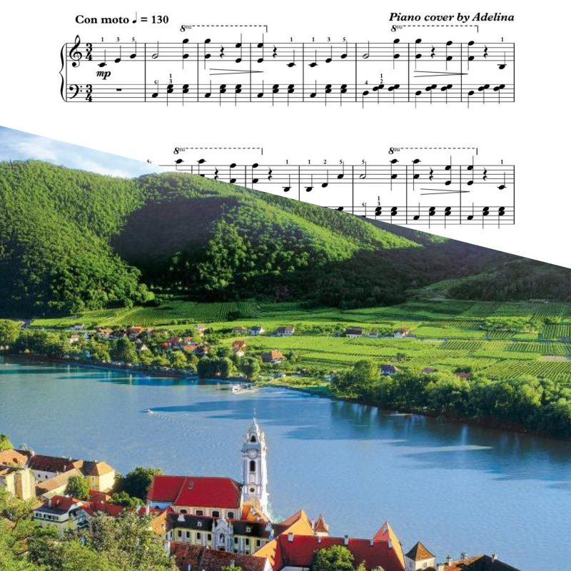 """The Blue Danube Waltz"" – Johann Strauss – Piano Sheet Music"