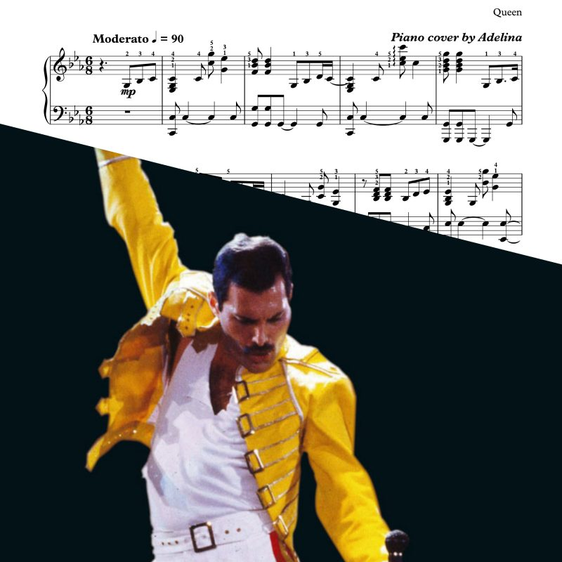 """We are the champions"" – Queen – Piano Sheet Music"