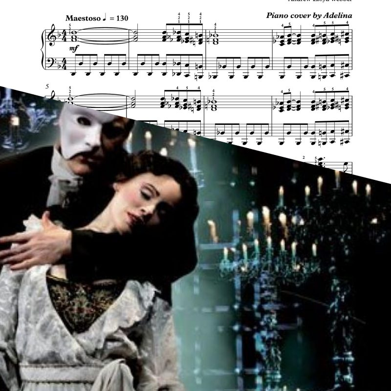 """The phantom of the opera"" – Andrew Loyd Webber – Piano Sheet Music"