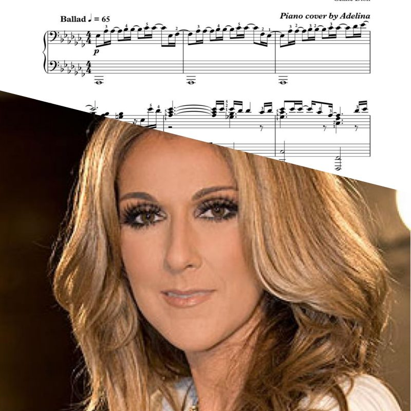 """I surrender"" – Celine Dion – Piano Sheet Music"