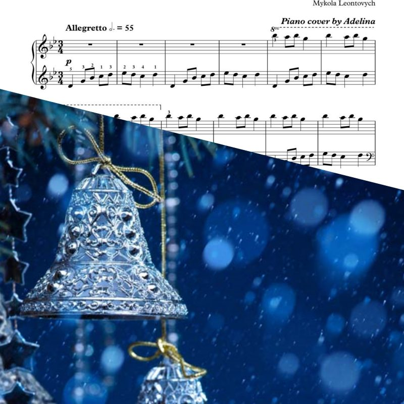 """Carol of the bells"" – Mycola Leontovych – Piano Sheet Music"