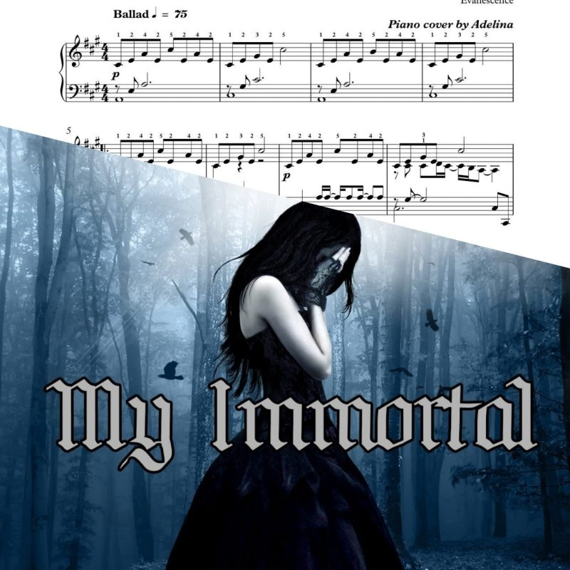 """My Immortal"" – Evanescence – Piano Sheet Music"