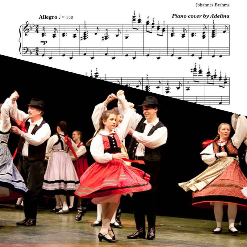 """Hungarian Dance No. 1"" – Brahms – Piano sheets"