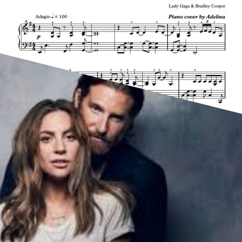 """Shallow"" – Lady Gaga, Bradley Cooper – Piano Sheet Music"