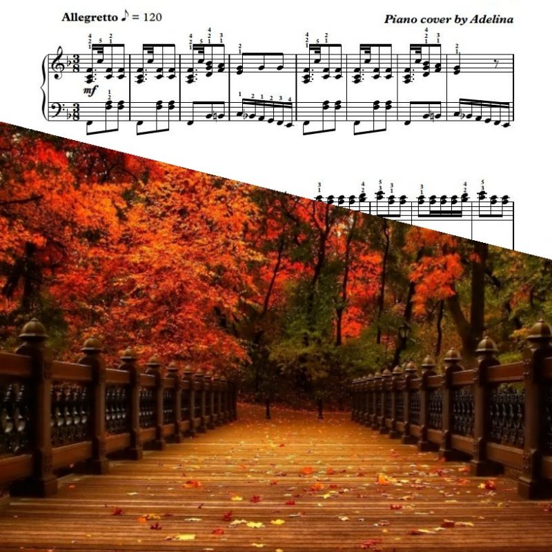 """Autumn"" – A.Vivaldi – Piano Sheet Music"