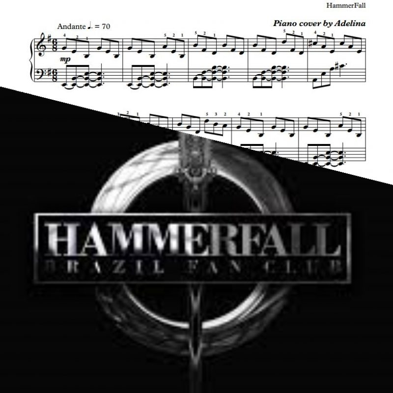 """The Fallen One"" – HammerFall – Piano Sheet Music"