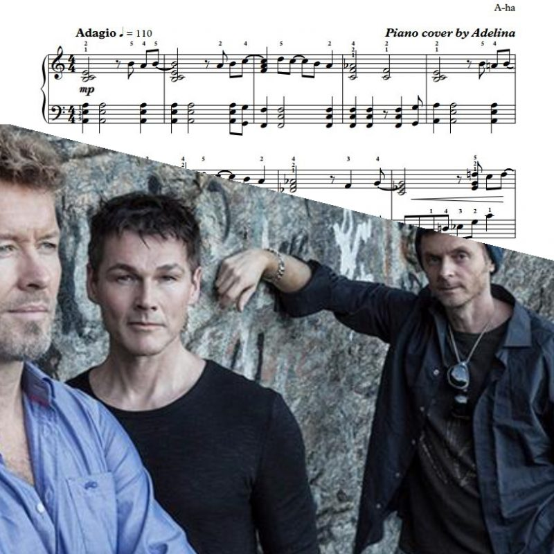 """Hunting High and Low"" – A-ha – Piano Sheet Music"