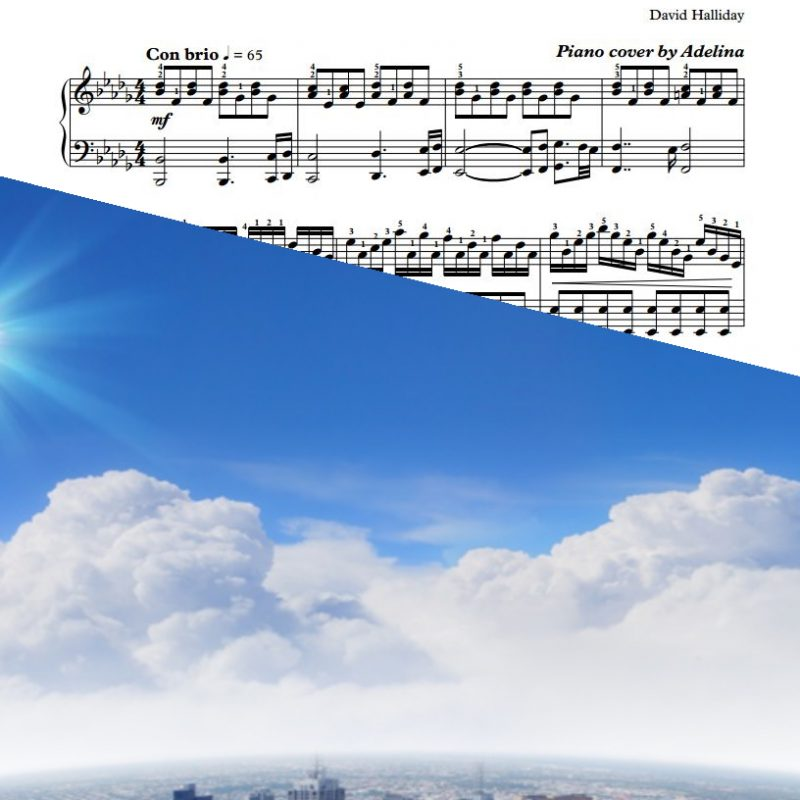 """High"" – David Halliday – Piano Sheet Music"