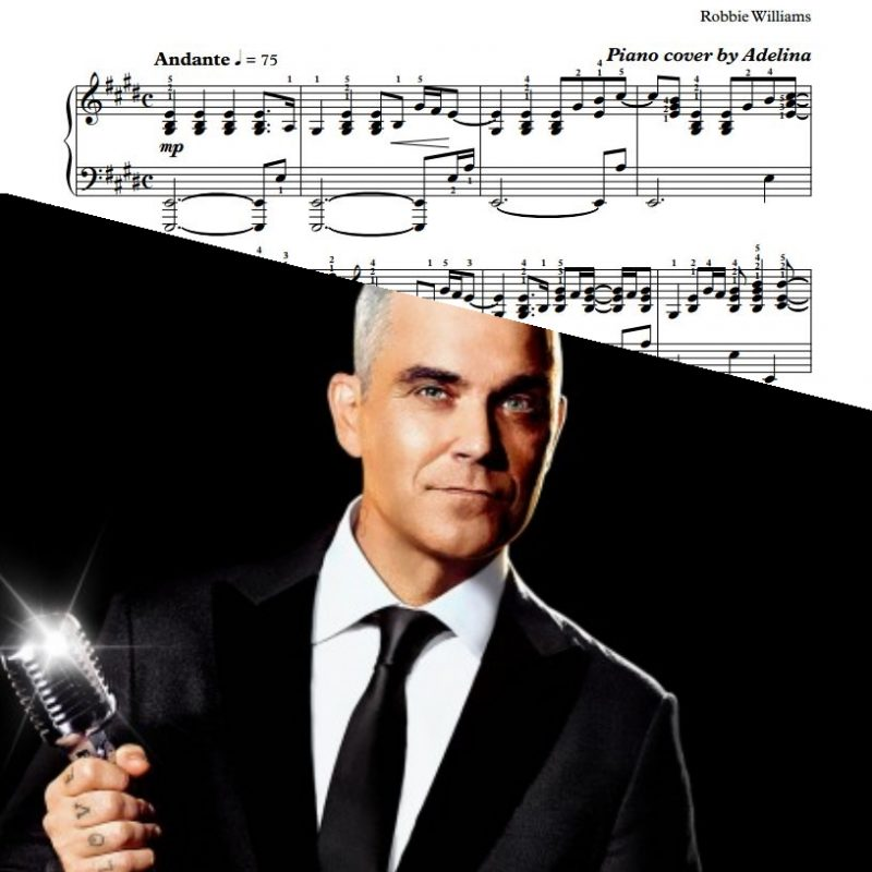 """Angels"" – Robbie Williams – Piano Sheet Music"