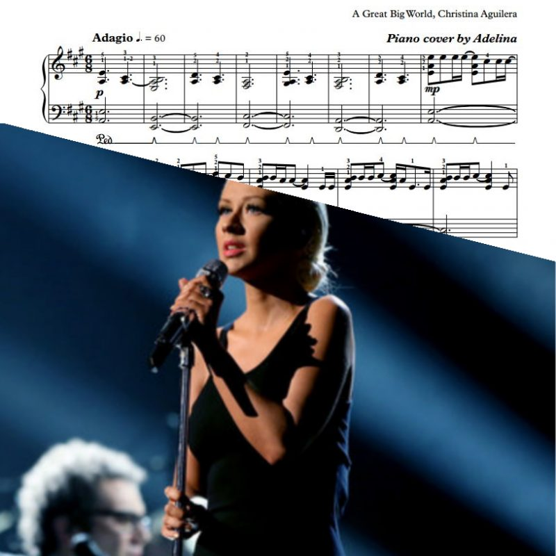 """Fall On Me"" – Christina Aguilera, A Great Big World – Piano Sheet Music"