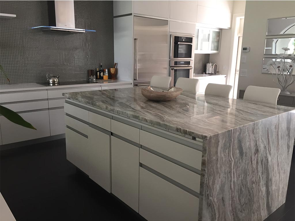 countertop gallery granite kitchen table Granite Kitchen Table and Island Coutnertop white grey beige by ADP Surfaces in Orlando Florida