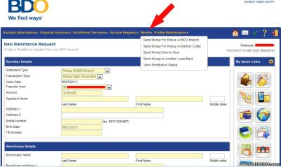 How to Transfer or Send Money to Philippines Through BDO Remit (Online Banking) - Banking 27964