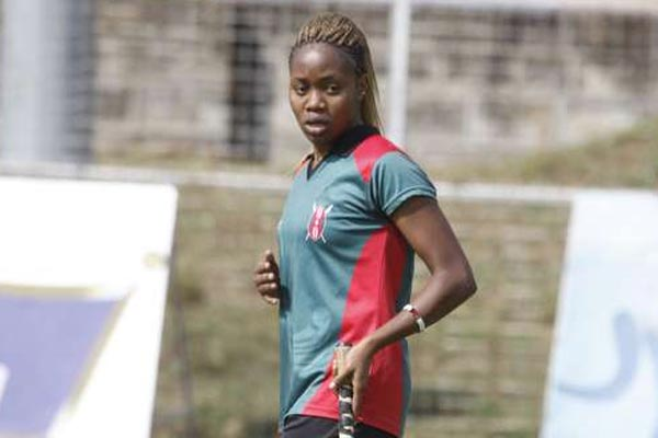 National hockey team player Pauline Naise during a past training session. PHOTO | MARTIN MUKANGU | NATION MEDIA GROUP