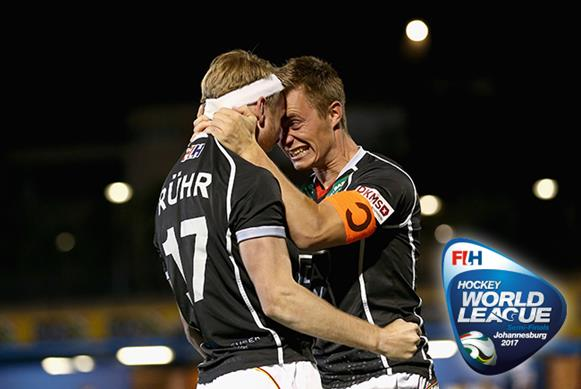 Germany (pictured) will meet Belgium in the event final in Johannesburg. Copyright: FIH / Getty Images