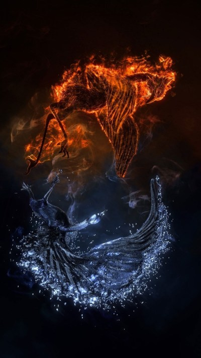 Fire vs Water iPhone Wallpaper HD