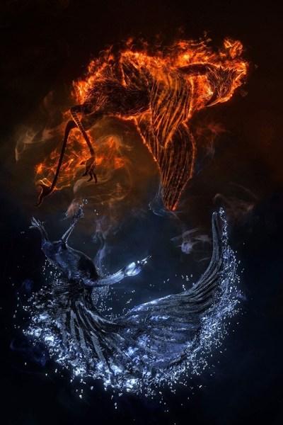Fire vs Water iPhone Wallpaper HD