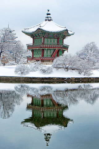 South Korea Gyeongbokgung iPhone Wallpaper HD