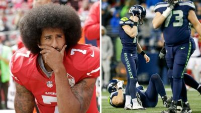 Seahawks postpone trip after Kaepernick declined to say if he would stop kneeling during ...