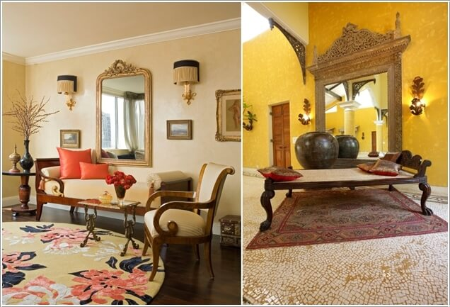 Traditional Indian Interior Design Traditional Indian Living Rooms with a Divan Known Commonly as a Daybed and  Ornate Mirrors