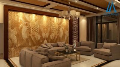 3 Modern Living Room Design Concepts by AmerAdnan Associates