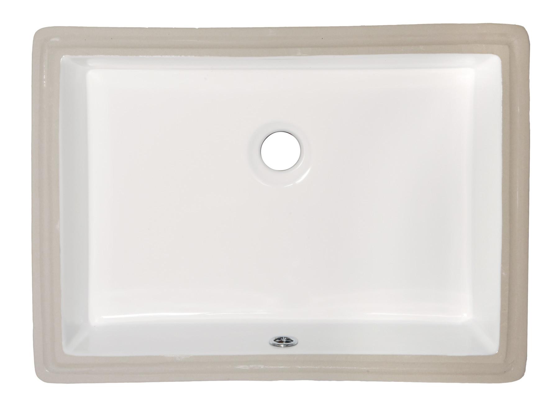 amerisink porcelain kitchen sink AS 19 75 14 38 5 75 Undermount Lavatory Porcelain Sink