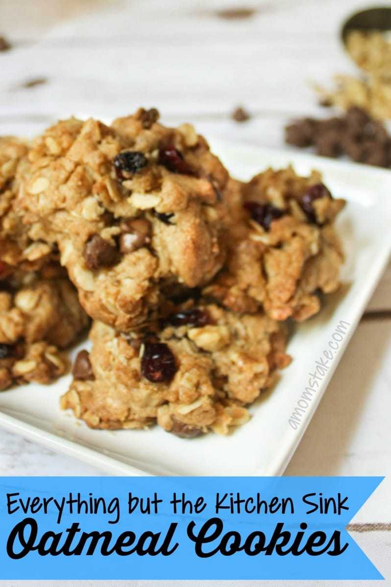 everything kitchen sink oatmeal cookies kitchen sink cookies Everything but the Kitchen Sink Oatmeal Cookies