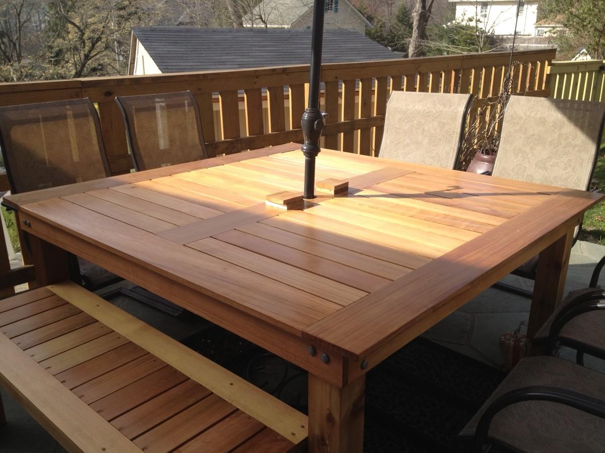 simple square cedar outdoor dining table diy kitchen table plans Simple Square Cedar Outdoor Dining Table