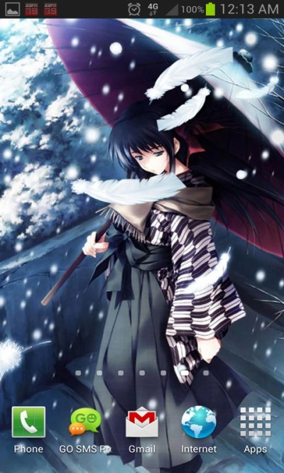 Anime Snow Live Wallpaper Android App - Free APK by Totallyproducts