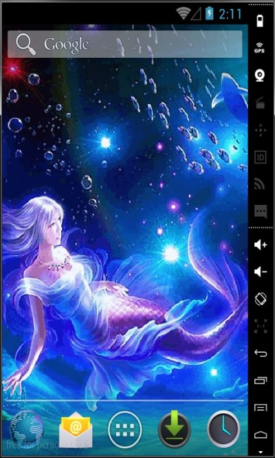 Mermaid In Water Live Wallpaper Android App APK by Android LWP