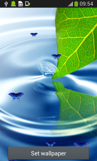 Water Live Wallpapers Top free APK android app - Android Freeware