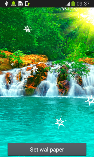 Waterfall Live Wallpapers Free Android App APK by Popular Melodies