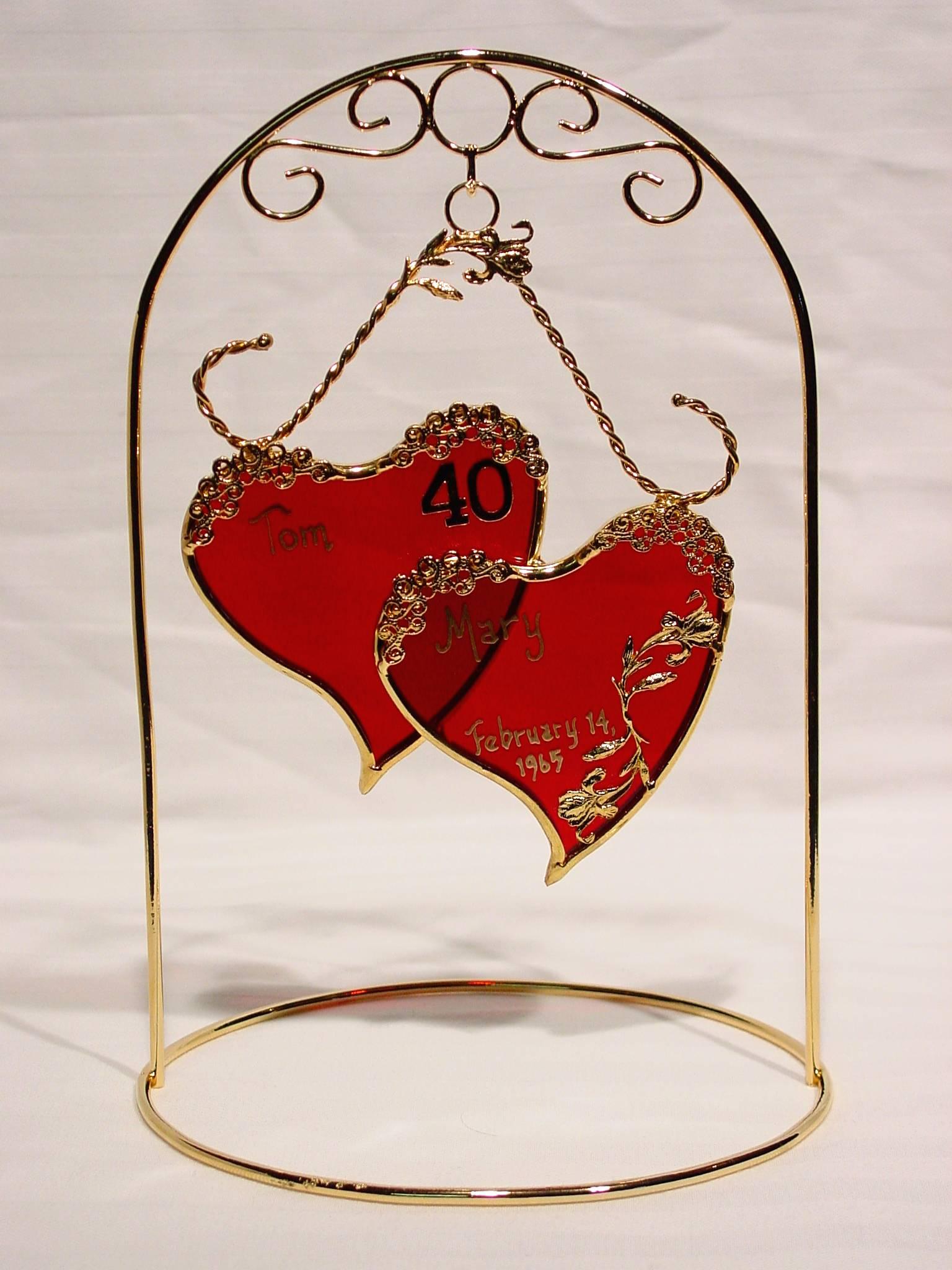juhlin 40th wedding anniversary gift Personalized Wedding Anniversary Sweetheart Gifts