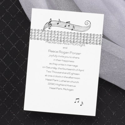 Music Wedding Invitations: Ideas | Ann's Bridal Bargains