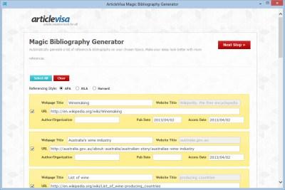 Magic Bibliography Generator 1.0