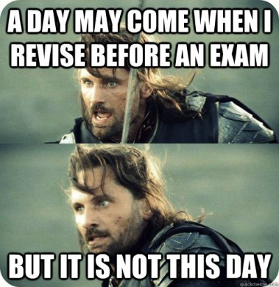 Exam Tomorrow Go On University Of Wisconsin Memes Funny Exam Meme Image