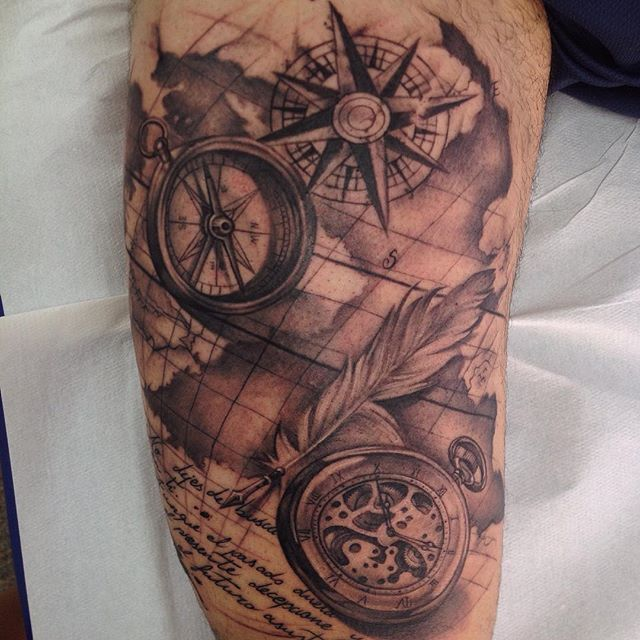 Florida travel tattoo Florida travel tattoo images 13 black and grey compass tattoos jpg