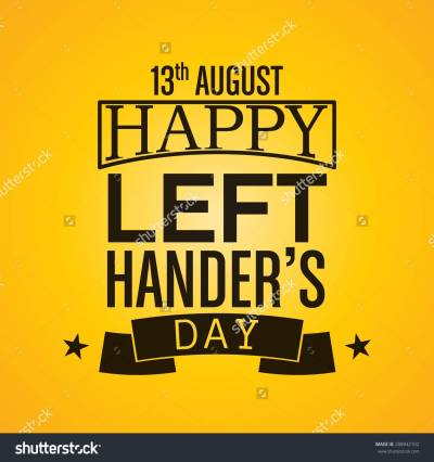13th August Happy Left Handers Day Illustration