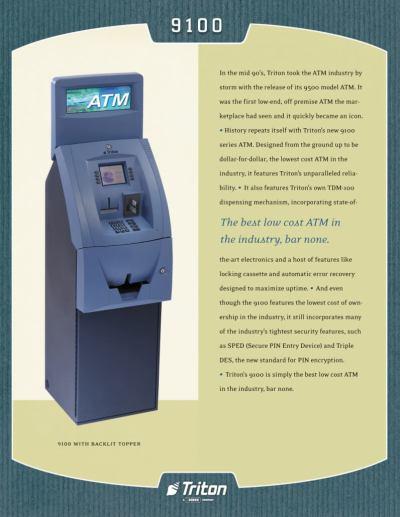 Triton 9100, Triton 9100 ATM Machine   Triton ATM Machine 9100