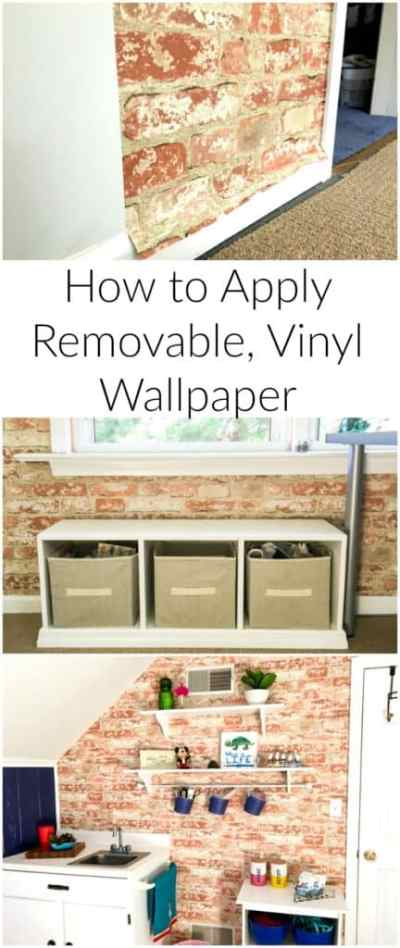 How to Apply Removable Wallpaper - A Turtle's Life for Me