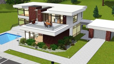 Awesome Modern House Plans Sims 3 - New Home Plans Design