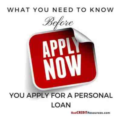 Things to Consider Before Applying for a Personal Bad Credit Loan