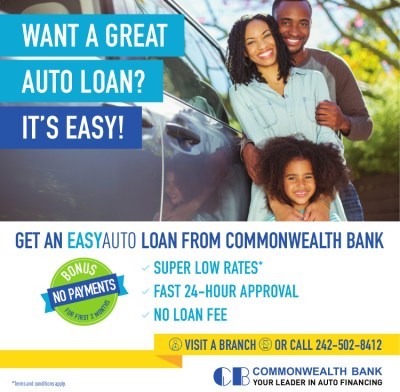Get an EASYAUTO Loan from Commonwealth Bank • My Deals Today Bahamas