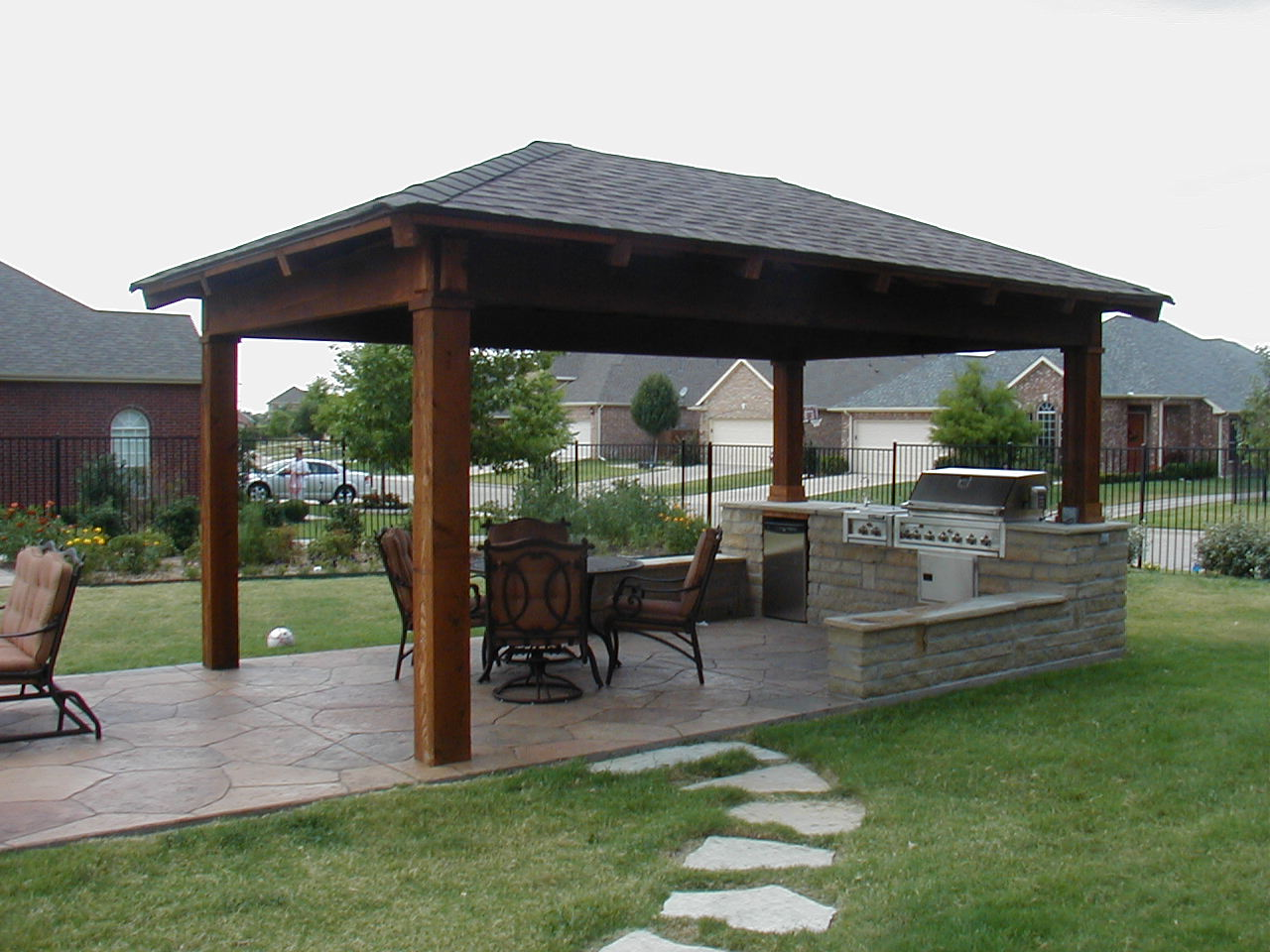 outdoor kitchen outdoor kitchen designs Create an Oasis in Your Backyard with an Outdoor Kitchen and Living Area