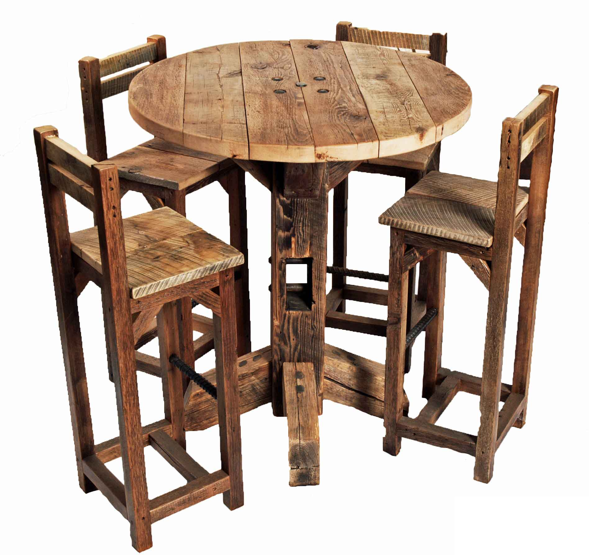 great vintage wood dining table also small dining room table sets kitchen table and chairs Round Bar Table And Chairs Urban Barnhaus Design HIGHTOP ROUND TABLE
