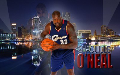 Shaquille O'Neal Cavaliers Widescreen Wallpaper | Basketball Wallpapers at BasketWallpapers.com