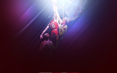 Dr. J Dunk Over Larry Bird Widescreen Wallpaper | Basketball Wallpapers at BasketWallpapers.com